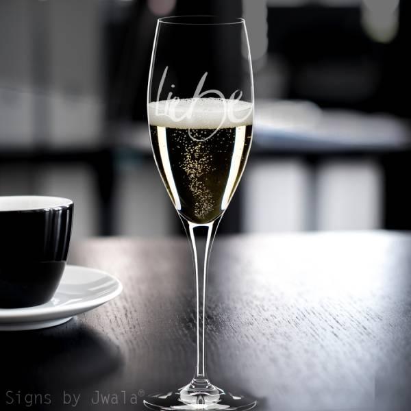 "Champagner-Glas ""Liebe"""