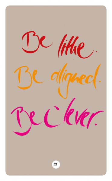 BE LITHE. BE ALIGNED. BE CLEVER.