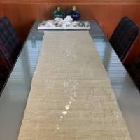 """Tischläufer """"Mein Herz geht auf"""" Bauernleinen"""