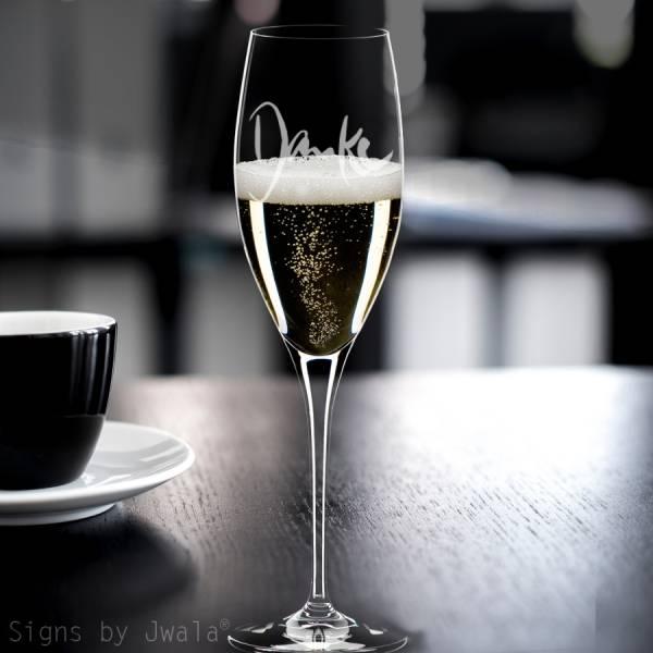"Champagner-Glas ""Danke"""