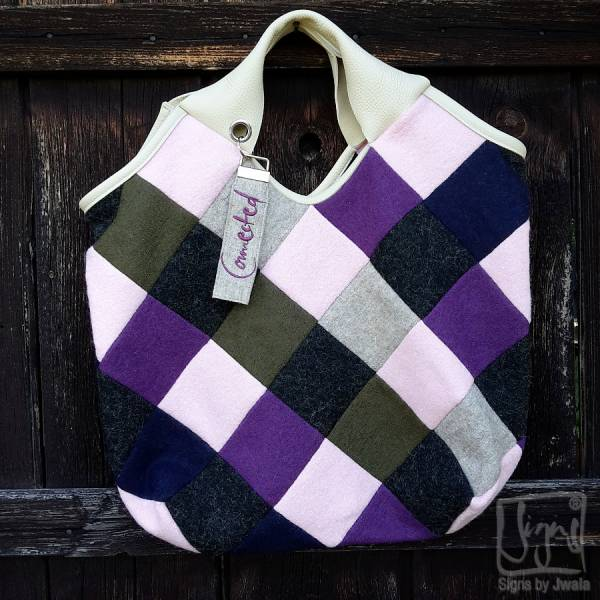 "Patchwork-Tasche ""Connected"""