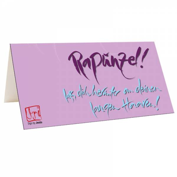 "Klappkarte ""Rapunzel"""