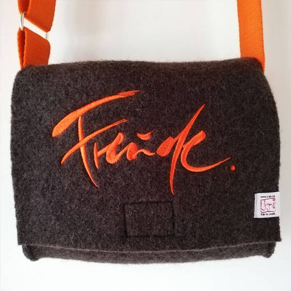 "MiniBag ""Freude"" Schoko-Orange"