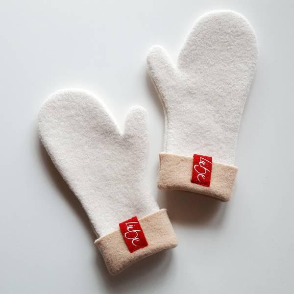 """Handschuh """"Liebe"""" Creme"""
