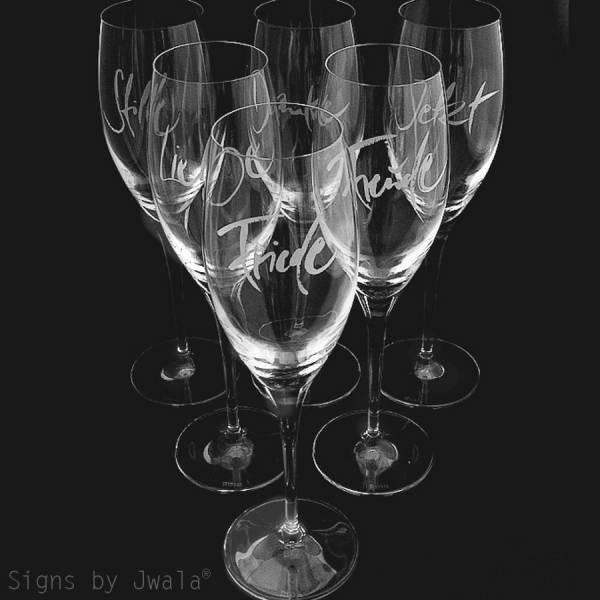 Champagner-Glas Set 6 Stk.