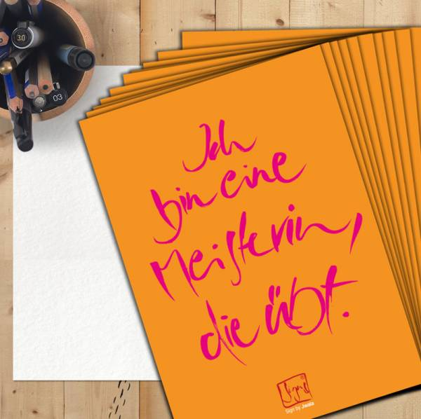"""10 Postkarten """"Ich bin eine Meisterin..."""""""