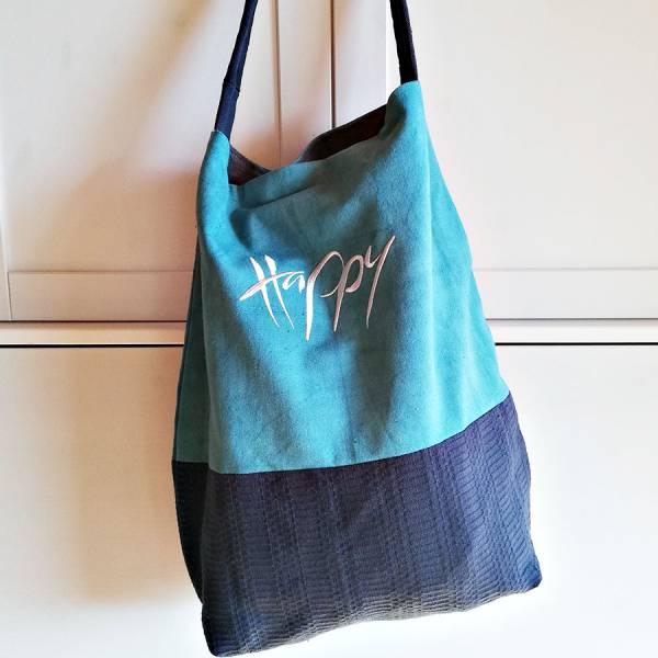 """Shopper """"Happy"""" Bauernleinen"""