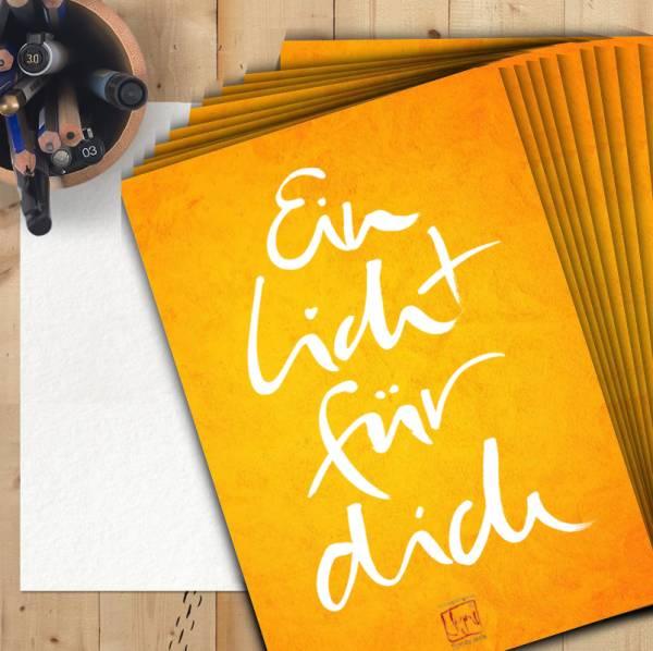 """10 Grußkarten """"Ein Licht für dich"""" DinA5"""