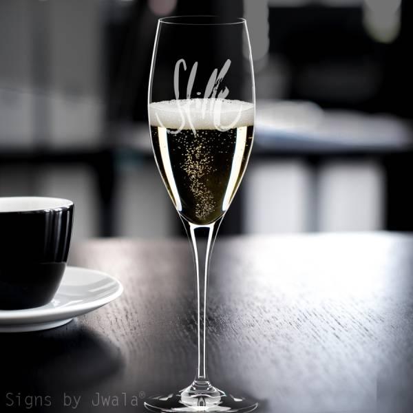 """Champagner-Glas """"Stille"""""""
