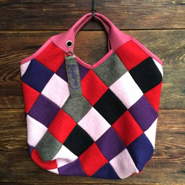 """Patchwork-Tasche """"Connected"""""""