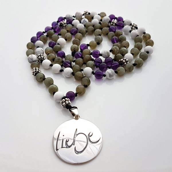 Liebe-Mala (Amethyst Howlith Labradorit)